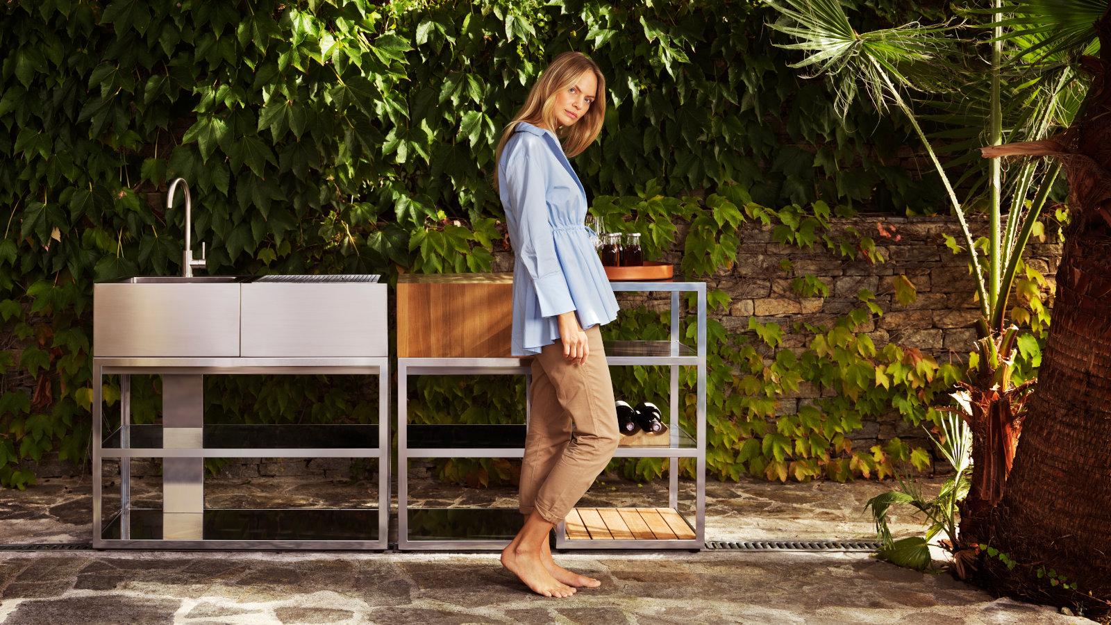 Modulare Outdoor Küche Edelstahl : Designer outdoor küche open kitchen von röshults
