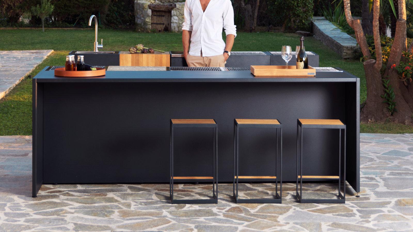 designer outdoor küche open kitchen von röshults