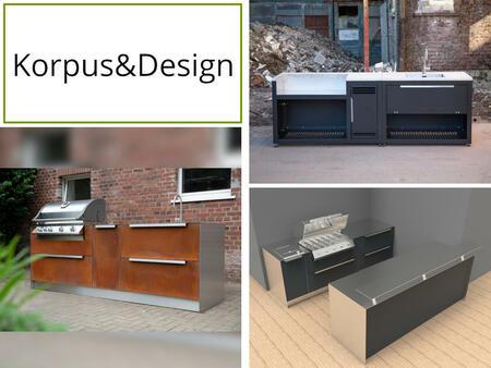 Korpus und Design der Twobold Gartenküche