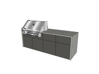 vivandio elements Outdoor Küche mit vier Modulen