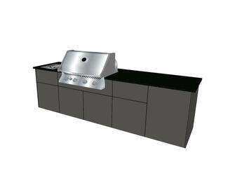 vivandio elements Outdoor Küche mit fünf Modulen