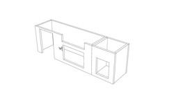 In den Modulen werden vorne Auschnitte z.B. für die Türen eingesägt