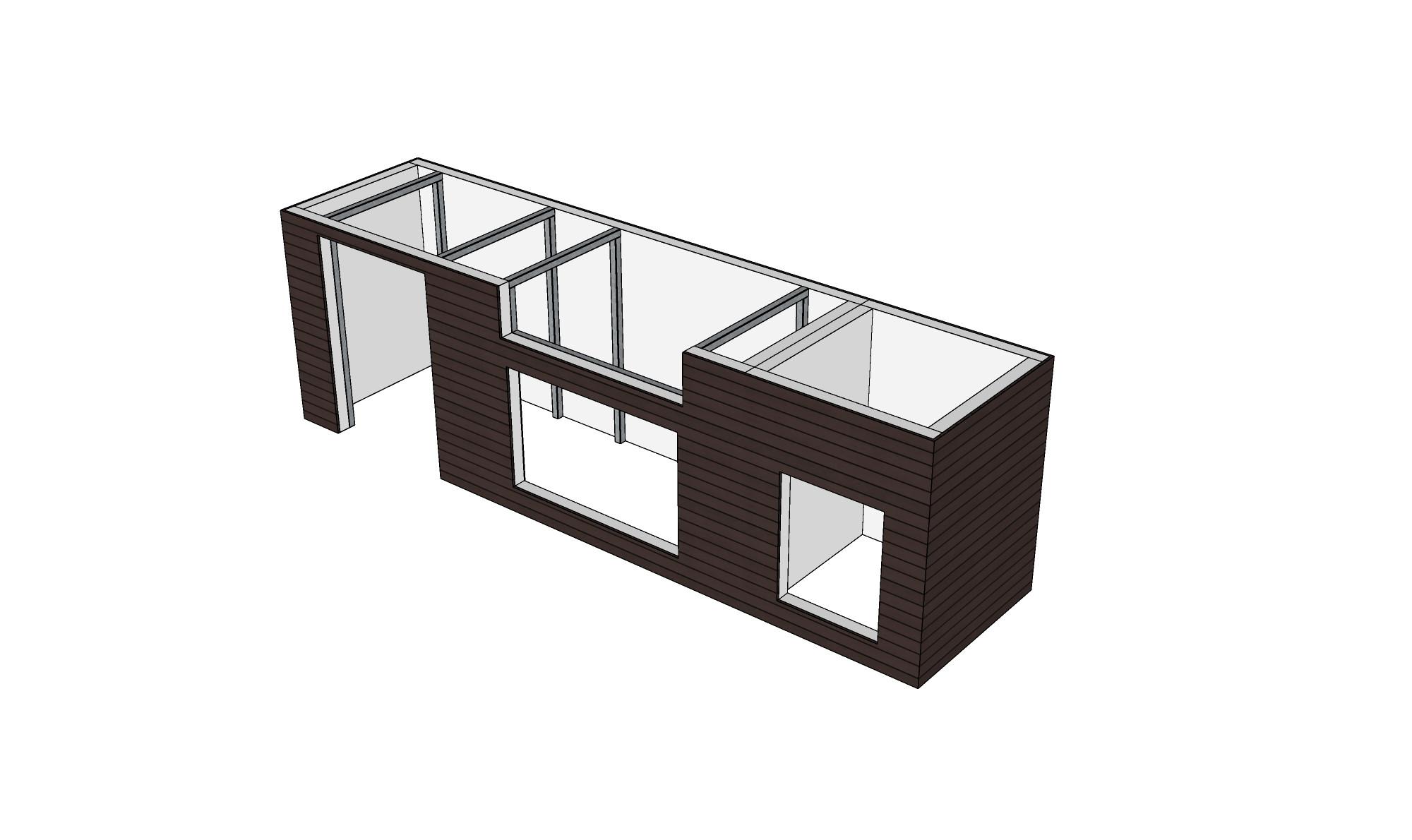 outdoor k che mit system einfach selbst bauen. Black Bedroom Furniture Sets. Home Design Ideas