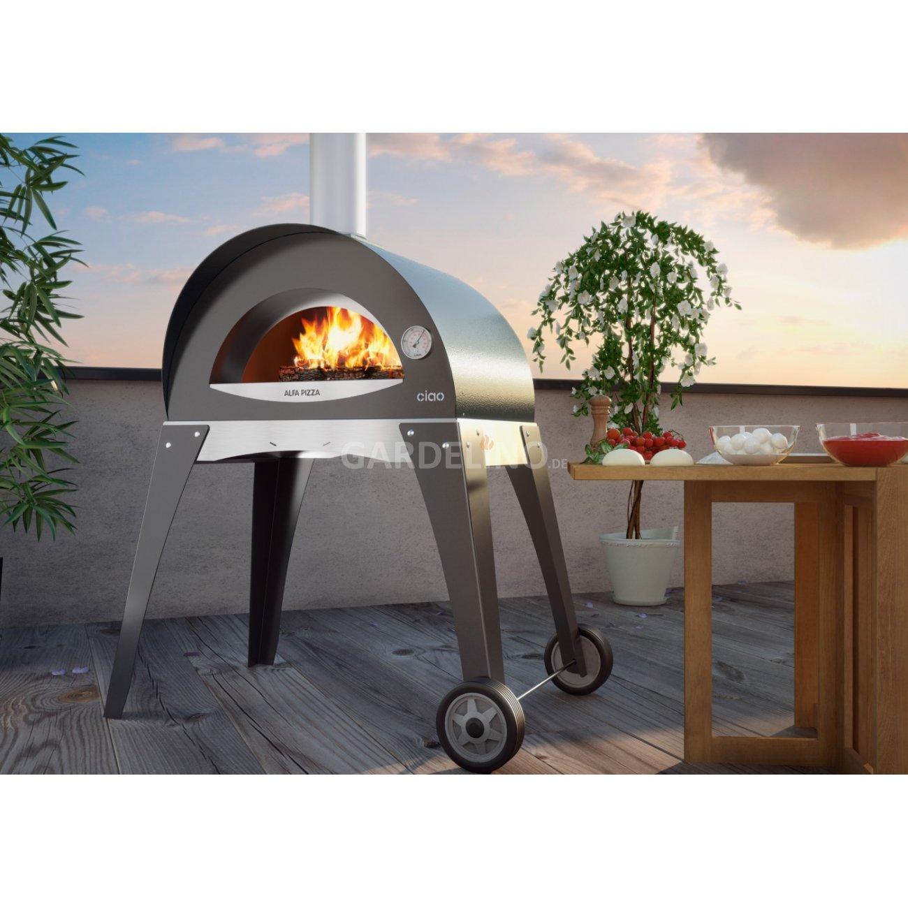 pizzaofen f r den garten rezept zutaten anleitung auf wie. Black Bedroom Furniture Sets. Home Design Ideas