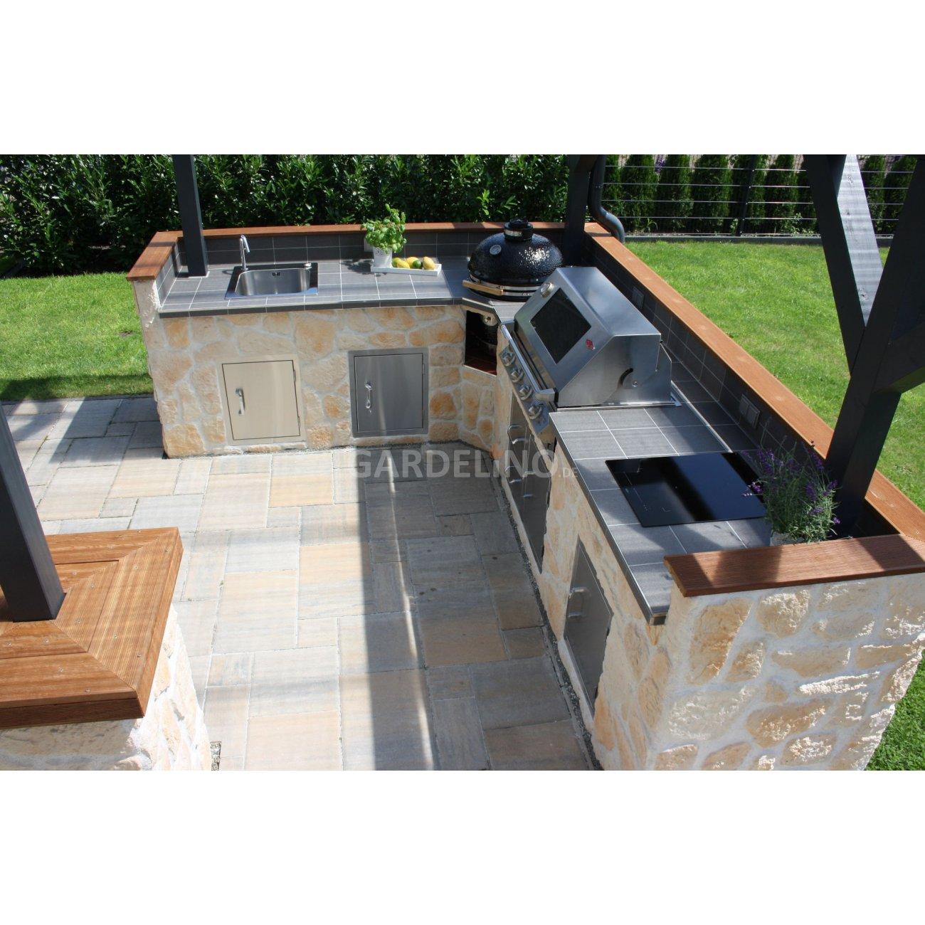 selbstgebaute au enk che mit beefeater und monolith grill On aussenküche mit grill