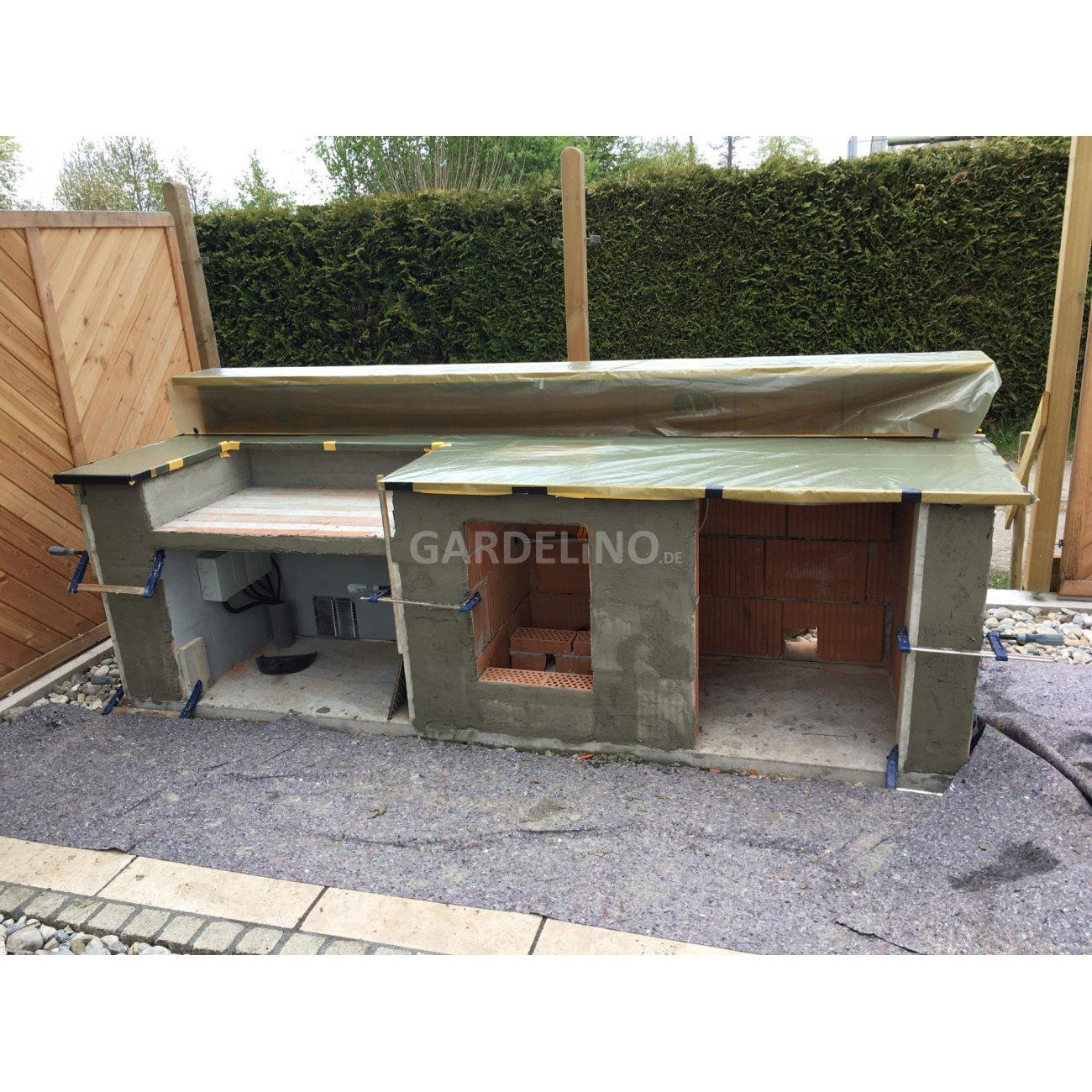 Aussenküche Gemauert selbstgebaute außenküche mit napoleon einbaugrill