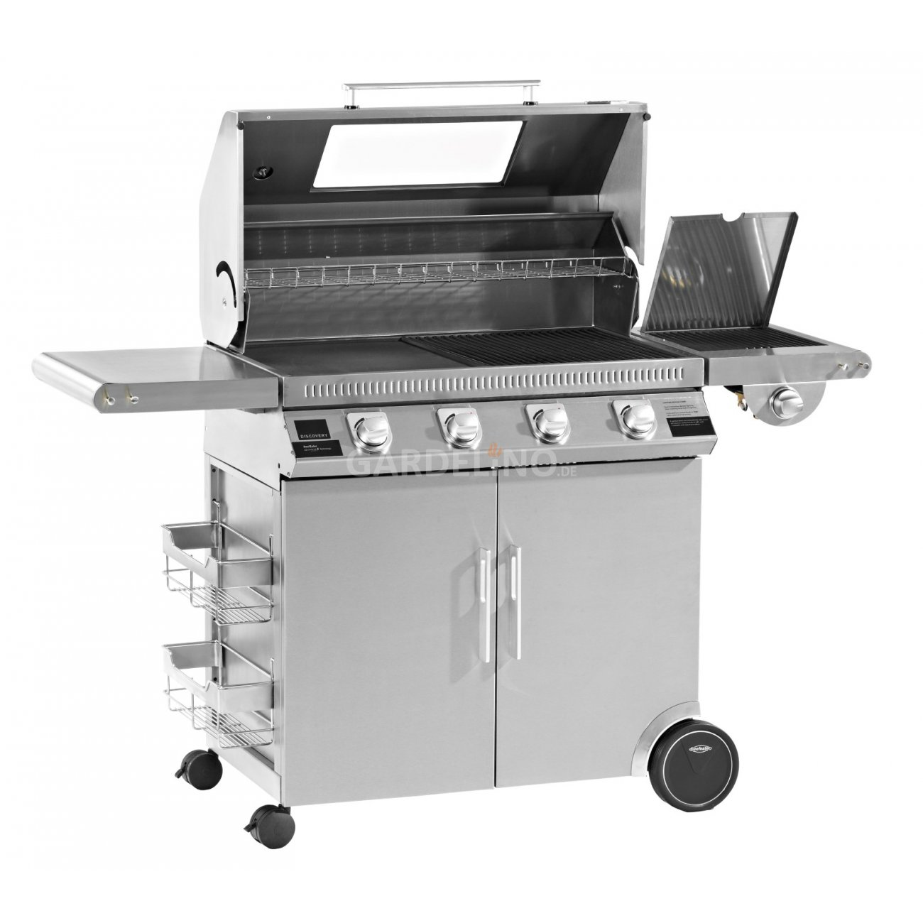 Beefeater bbq gasgrill trolley discovery 1100 s - Plancha trolley gas met deksel ...