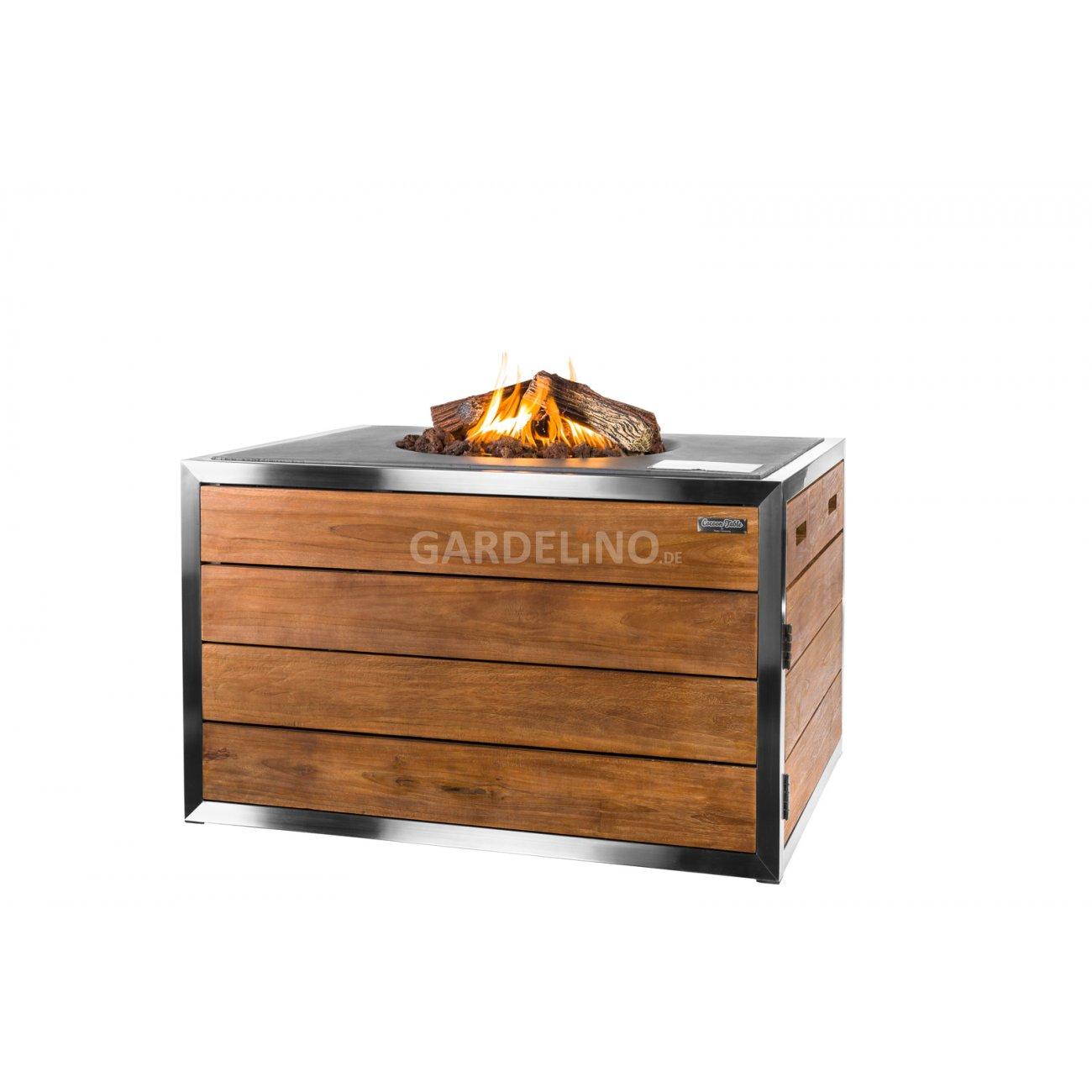 holz feuertisch rechteckig von happy cocooning. Black Bedroom Furniture Sets. Home Design Ideas