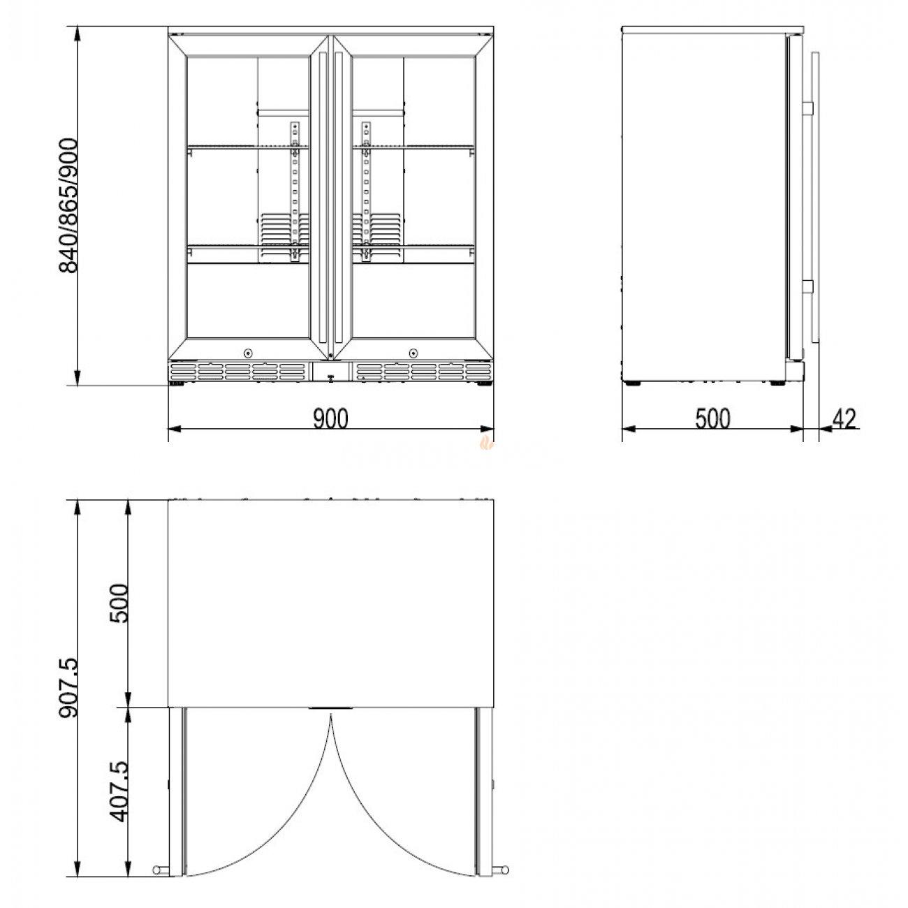garten k hlschrank mit 2 t ren. Black Bedroom Furniture Sets. Home Design Ideas