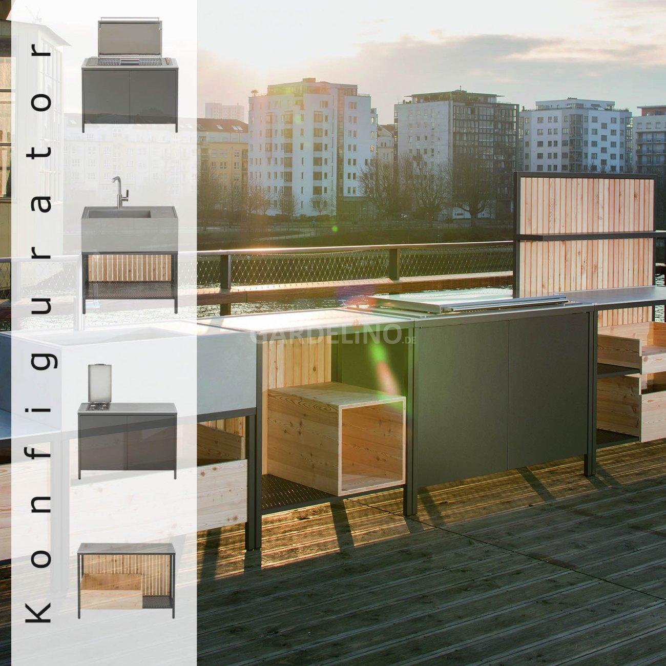 kaufmann grillkitchen block gartenk che jetzt konfigurieren. Black Bedroom Furniture Sets. Home Design Ideas