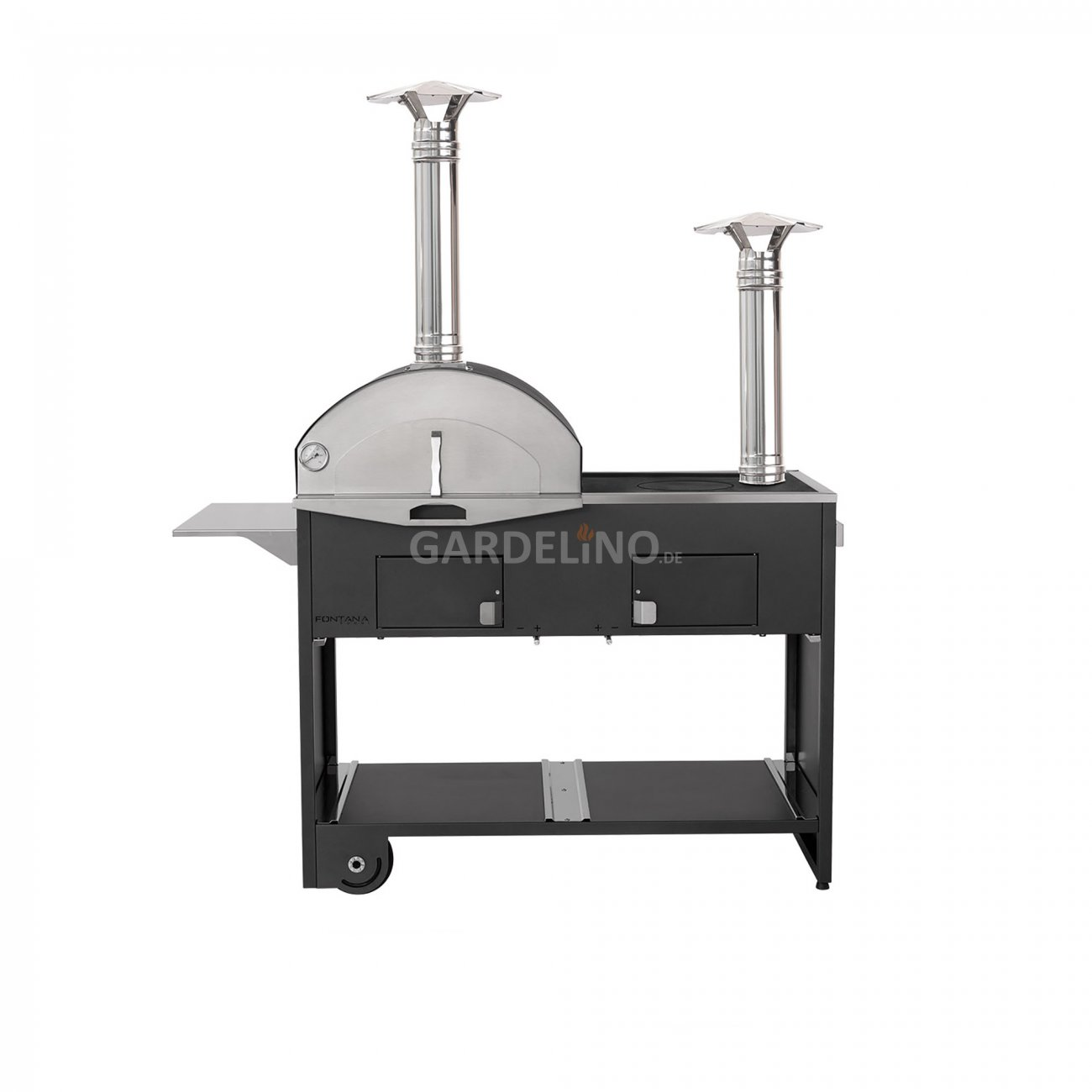 grill pizzaofen kombination pizza cucina doppio. Black Bedroom Furniture Sets. Home Design Ideas