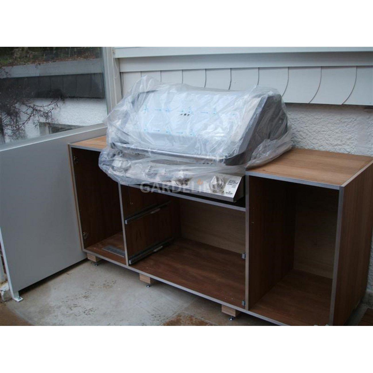 grillk che mit einbaugrill im garten selbst gebaut. Black Bedroom Furniture Sets. Home Design Ideas