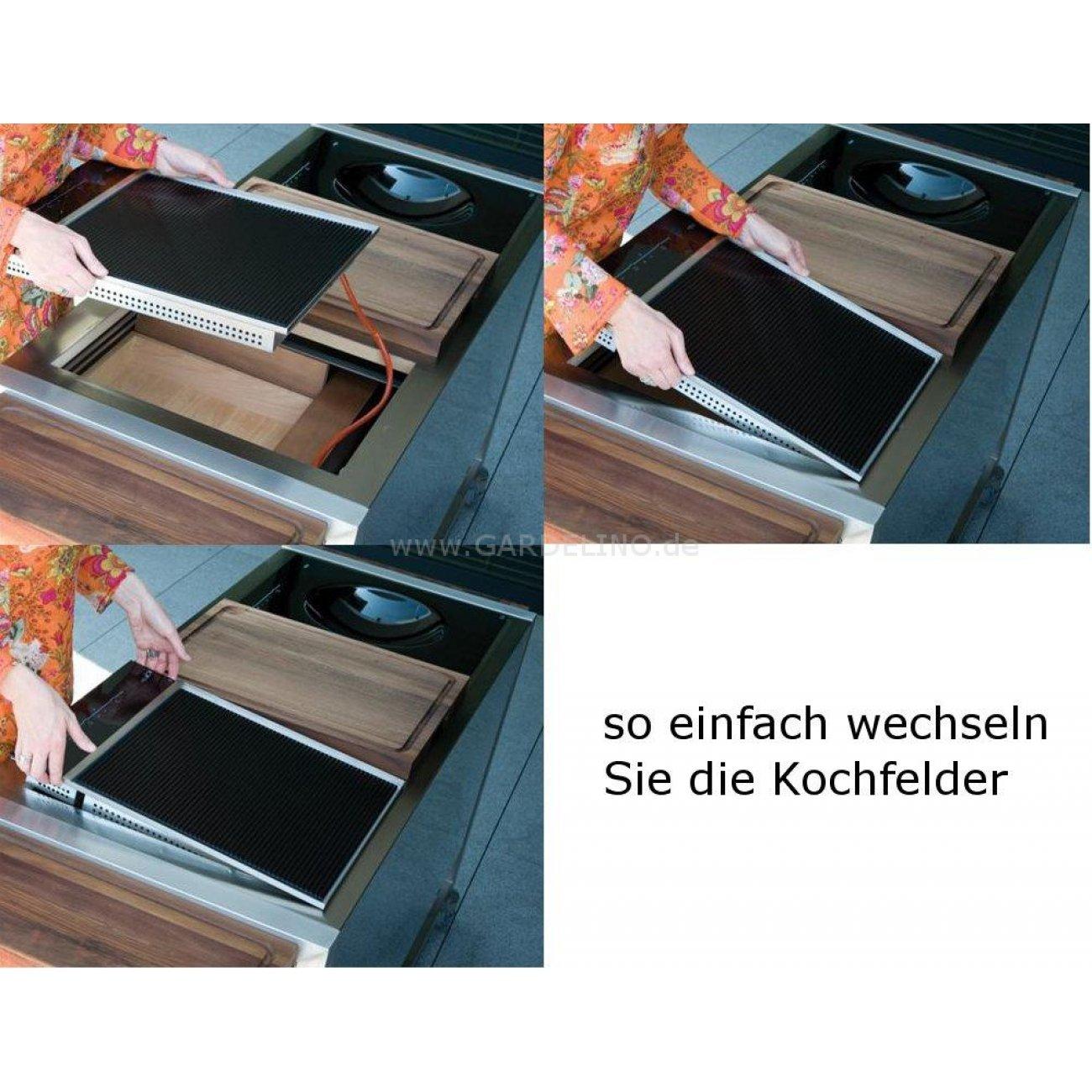 induplus wok kochfeld f r innen oder au en. Black Bedroom Furniture Sets. Home Design Ideas