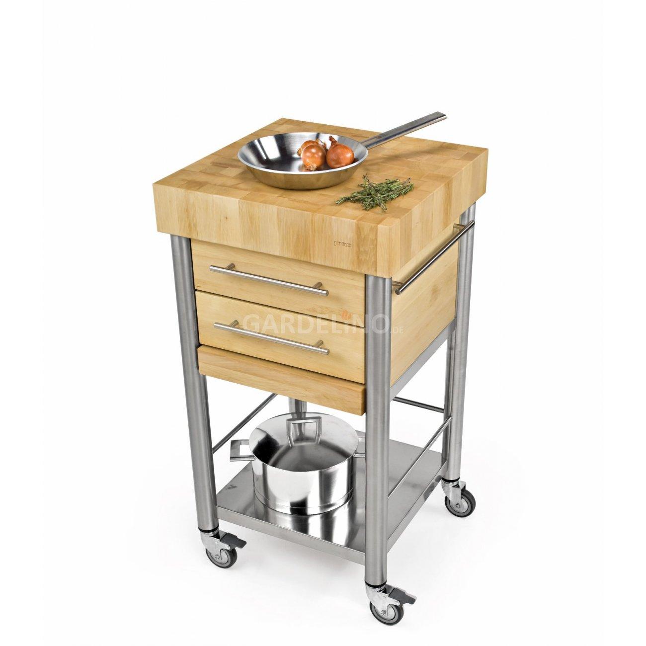 joko domus Auxilium Küchenwagen klein mit zwei Schubladen 50 x