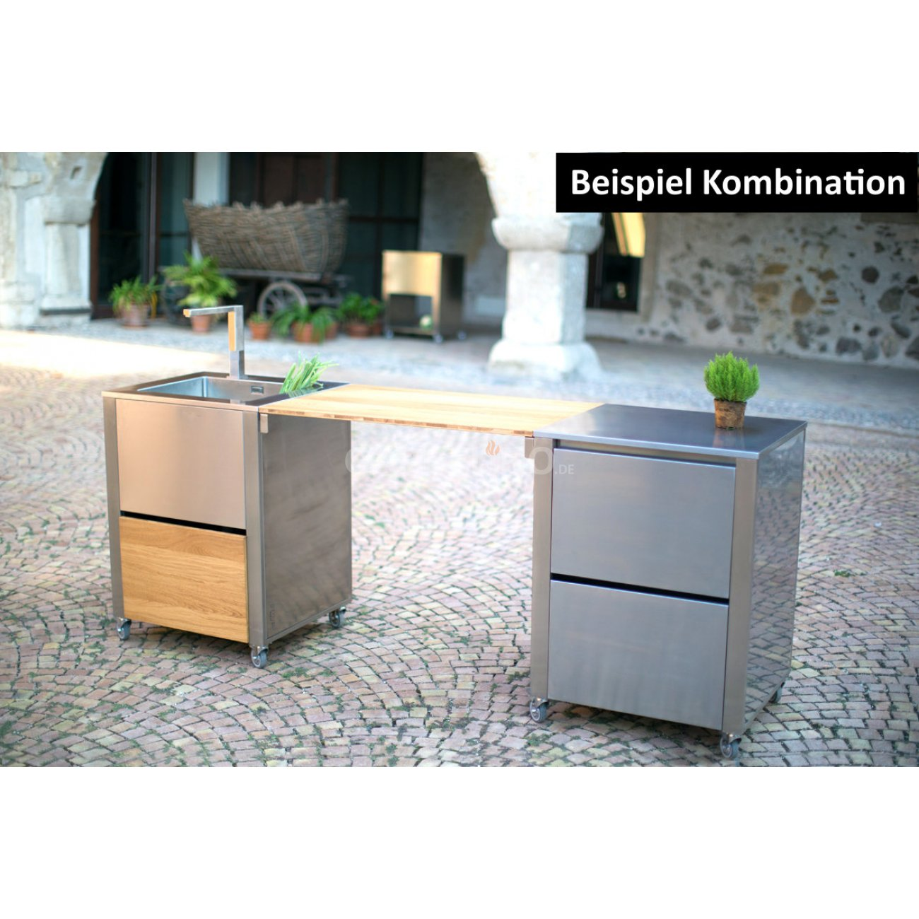 joko domus cun kitchen outdoork che mit induktionskochfeld. Black Bedroom Furniture Sets. Home Design Ideas
