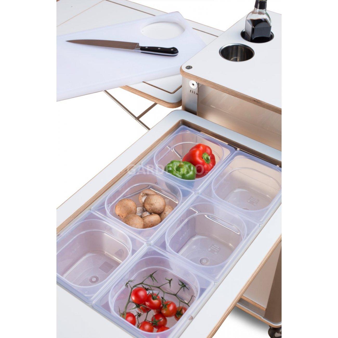 Mobile kuche als trolley fur garten und terrasse von flix for Küche lieferzeit
