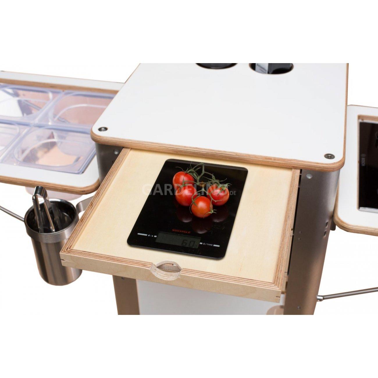 mobile küche als trolley für garten und terrasse von flix