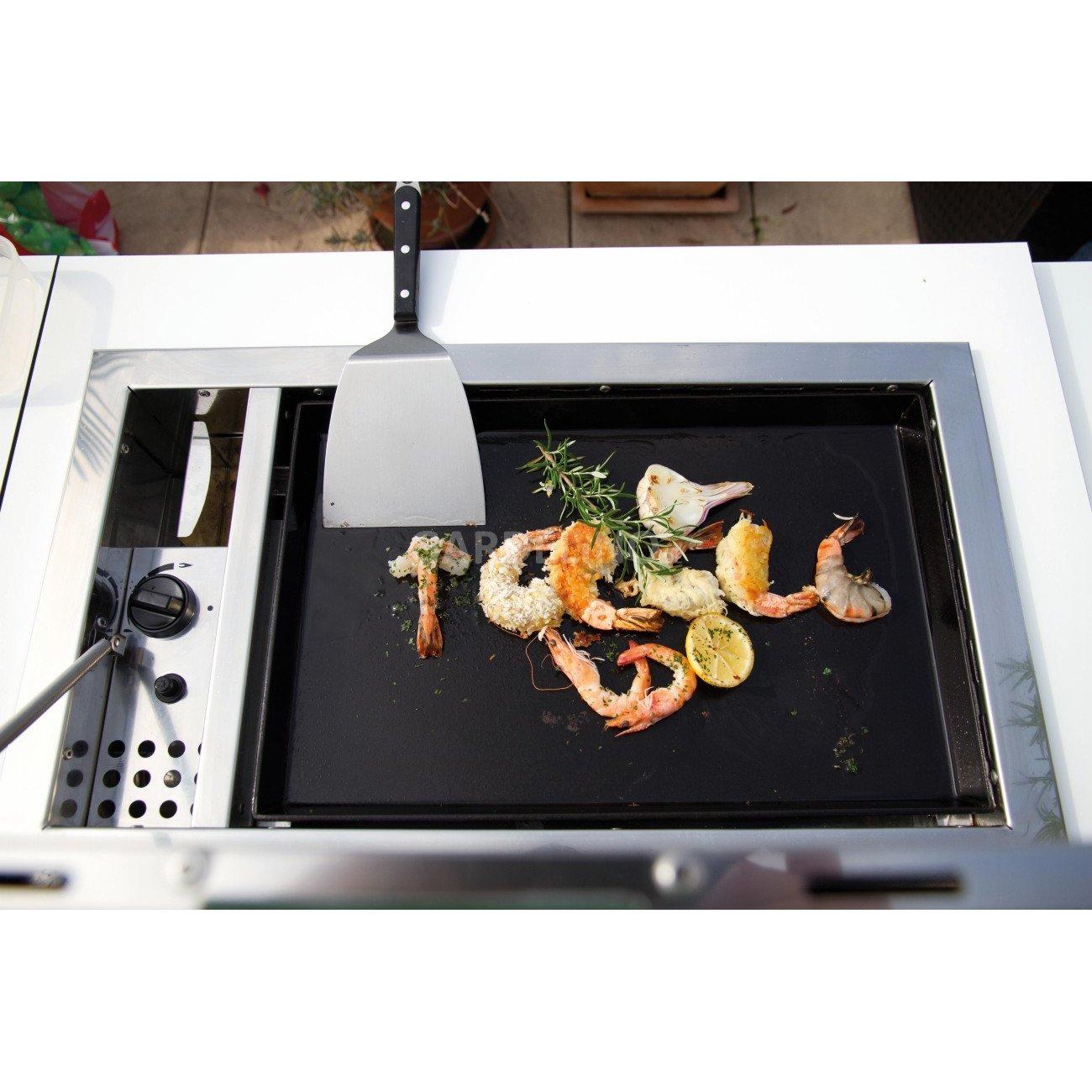 ocq plancha grill zum einbauen in eine gartenk che. Black Bedroom Furniture Sets. Home Design Ideas