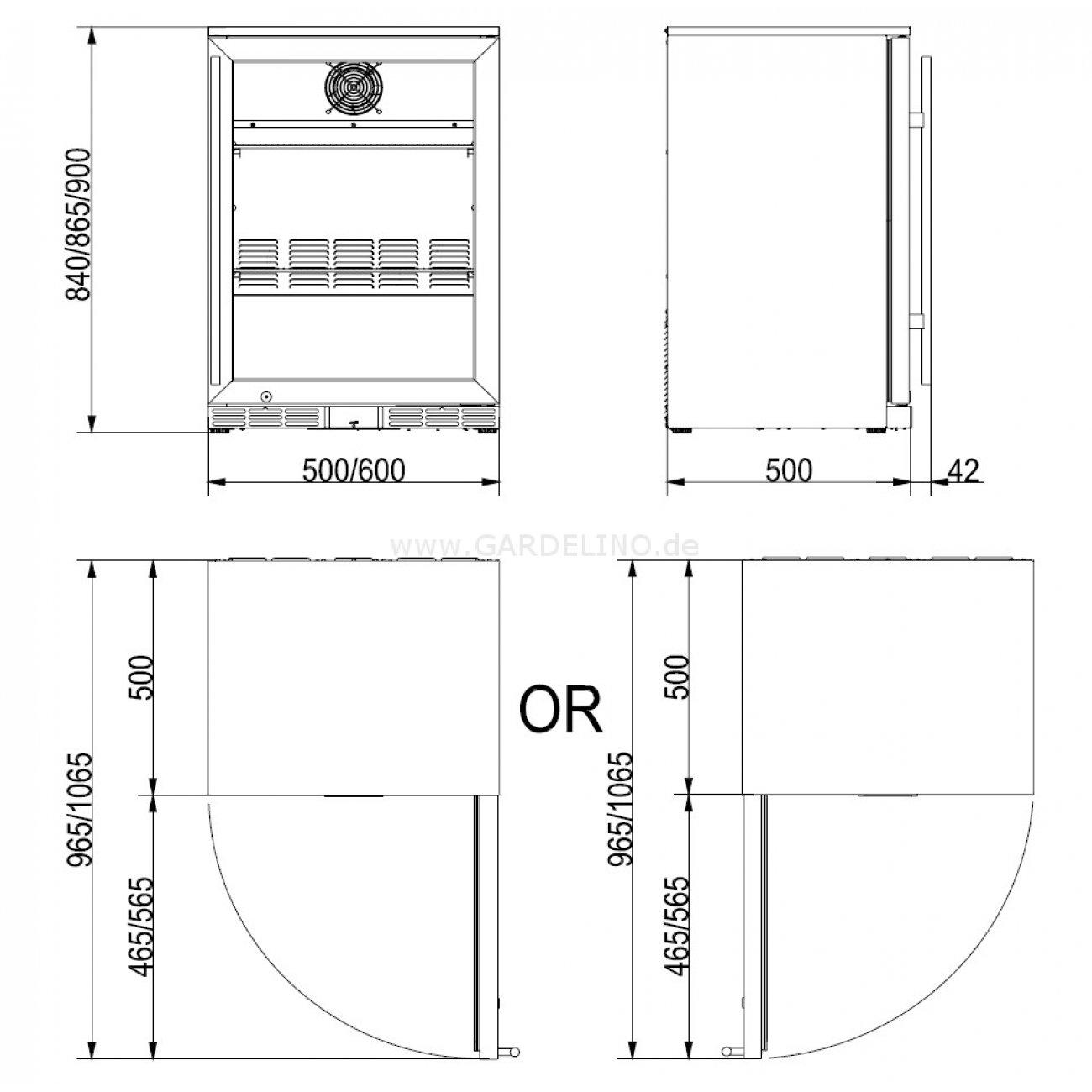 gro ma e einbauk hlschrank zeitgen ssisch die besten wohnideen. Black Bedroom Furniture Sets. Home Design Ideas