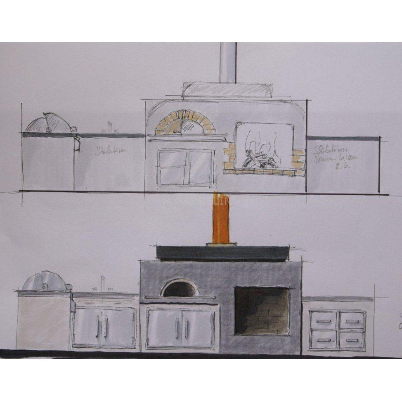Gemauerte Küchenzeile mit gut ideen für ihr haus design ideen