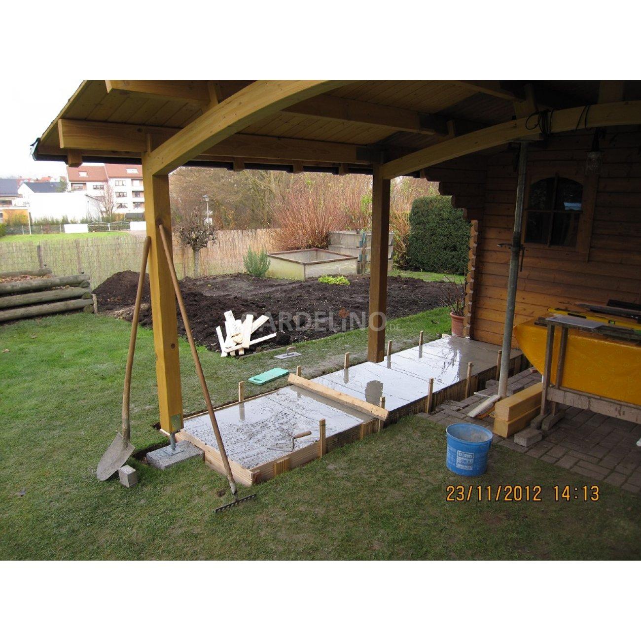 Outdoorküche gemauert mit Einbau Gasgrill und Monolith Baubericht