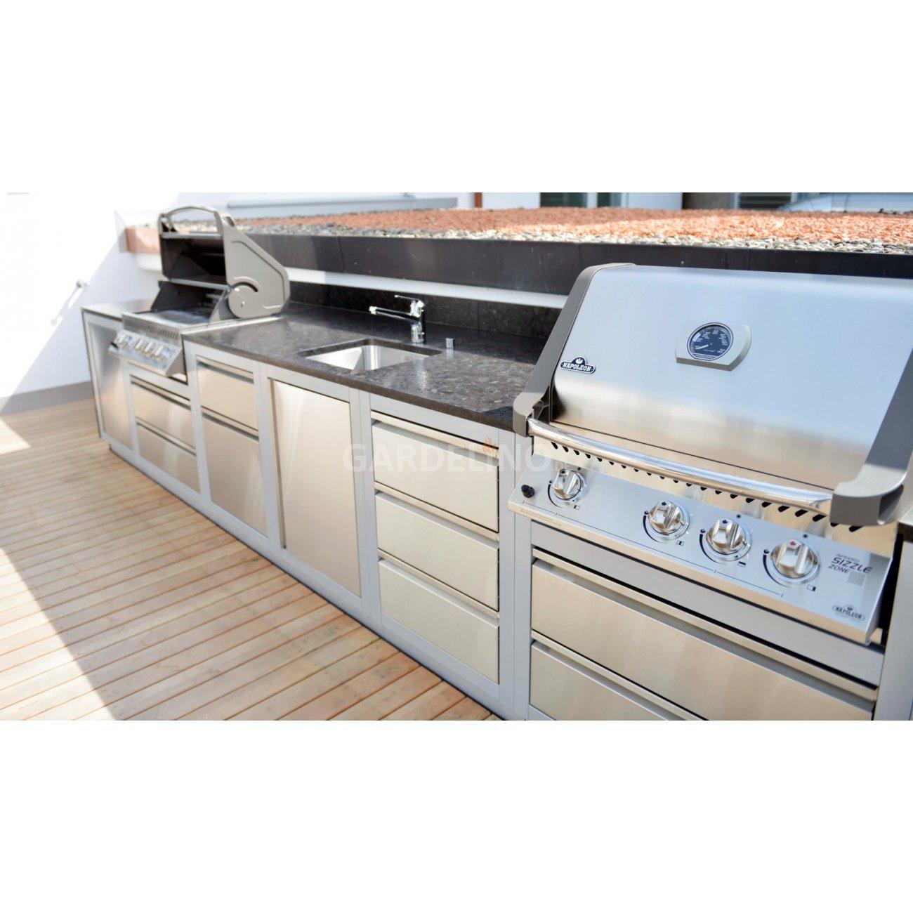 outdoorküche mit napoleon oasis system - baubericht - Edelstahl Outdoor Küche