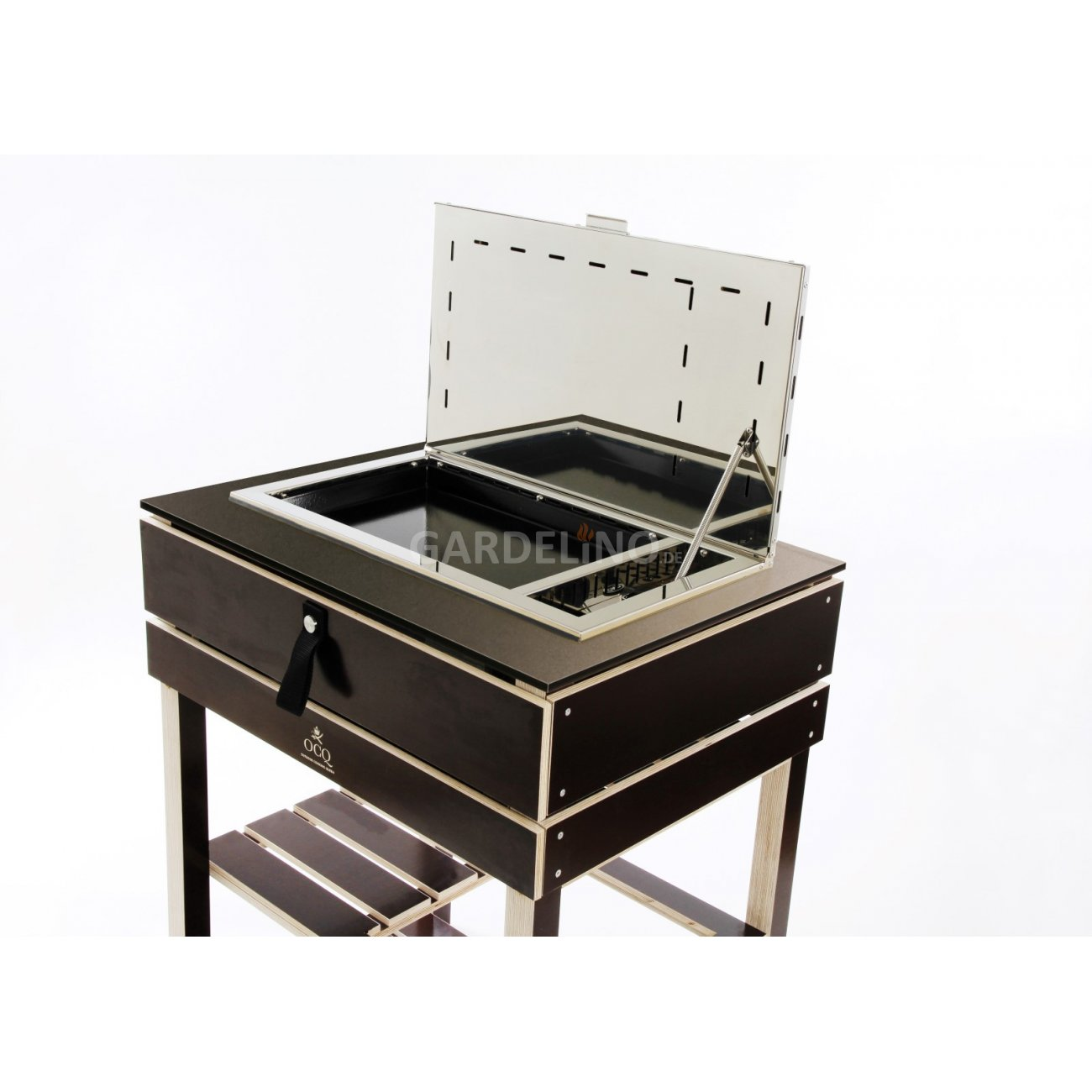ocq gartenk che element mit plancha grill. Black Bedroom Furniture Sets. Home Design Ideas
