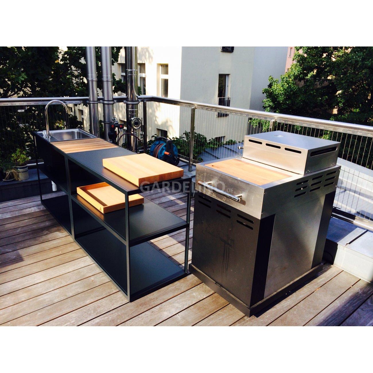 r shults gartenk che auf der terrasse. Black Bedroom Furniture Sets. Home Design Ideas