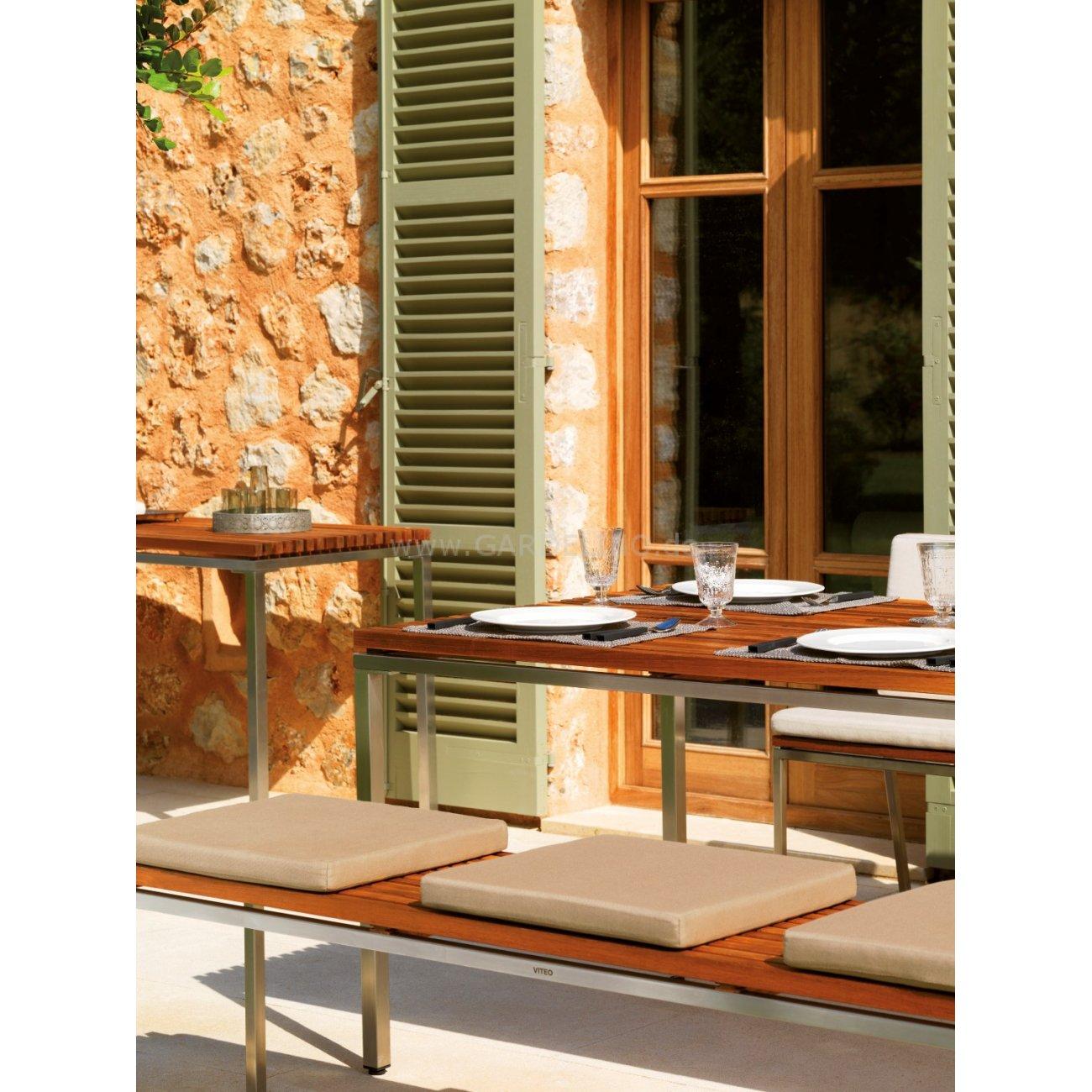 Viteo Home Teak Edelstahl Design Gartenmöbel