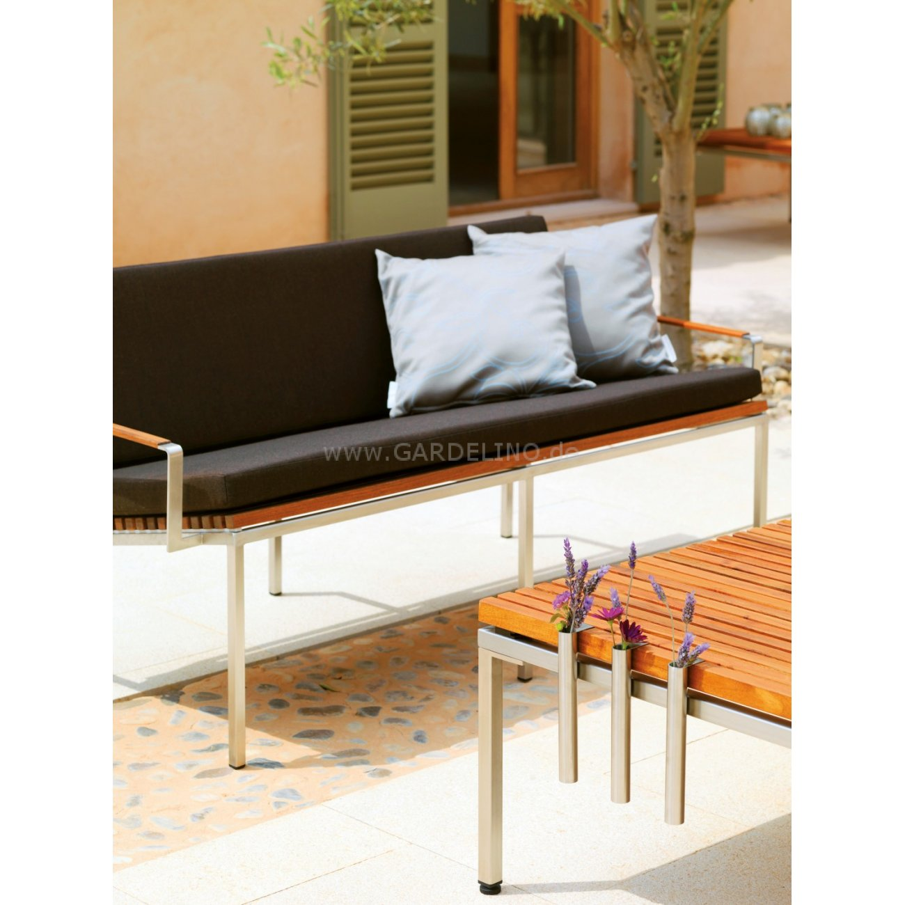 viteo home teak edelstahl design gartenm bel. Black Bedroom Furniture Sets. Home Design Ideas