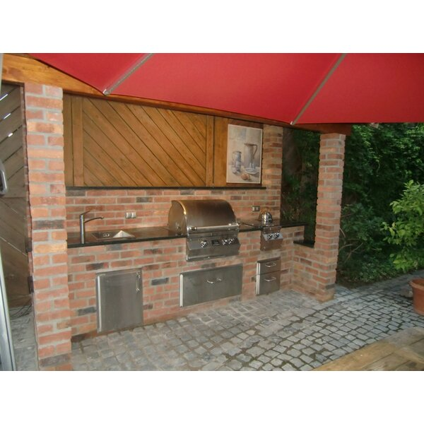 Outdoor kuche backstein for Outdoor kuche gemauert