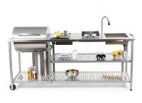 gartenküche: im garten kochen und grillen! - Fahrbare Küche