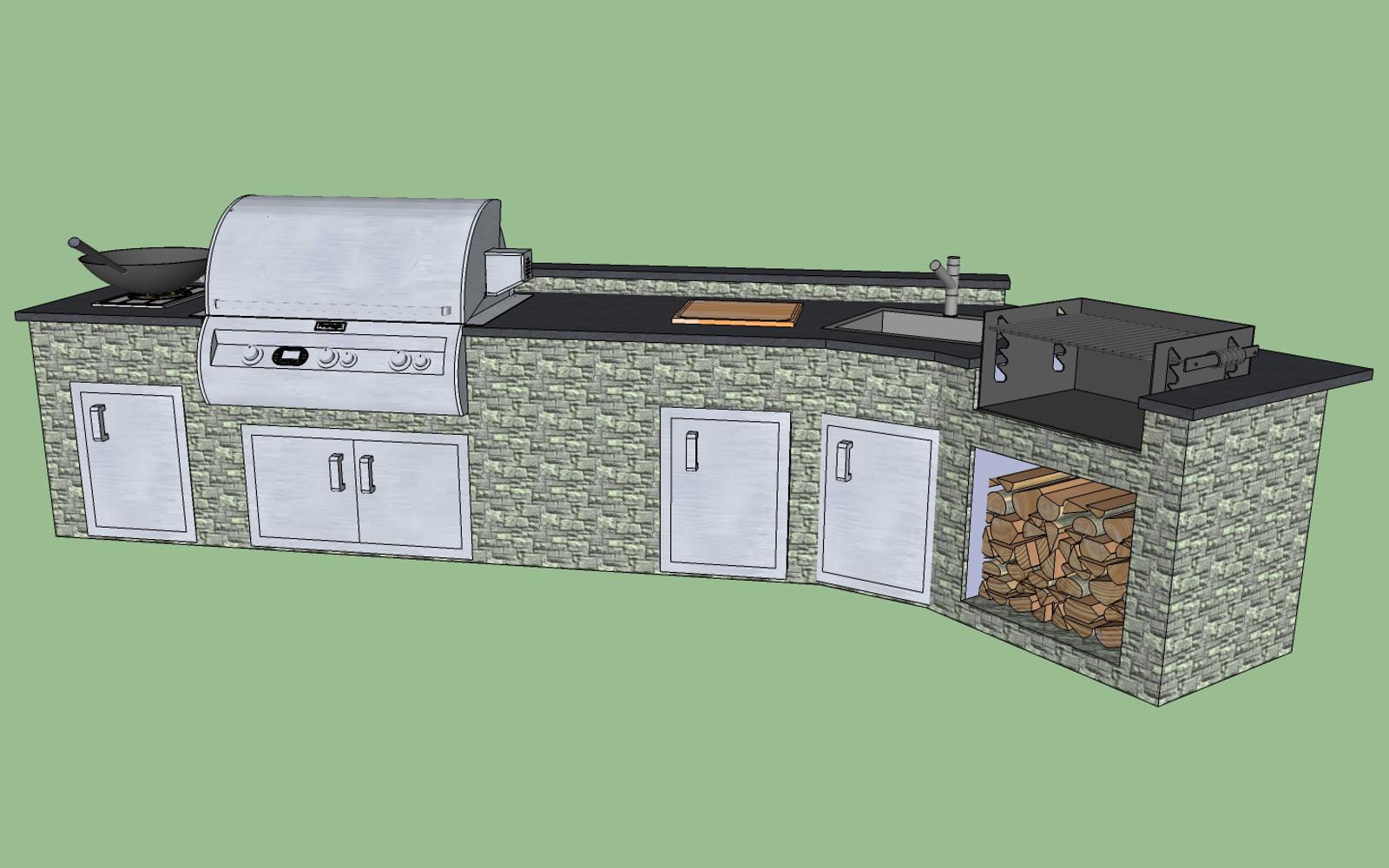 Outdoor Küche Im Gartenhaus : Outdoor küche aus stein selber bauen ikea küche griffe anbohren