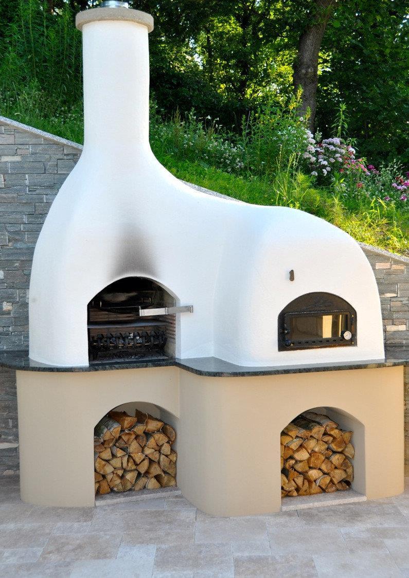 Grill Pizzaofen Kombination Selbst Bauen Holzofen Im Garten Grill Pizzaofen Kamin